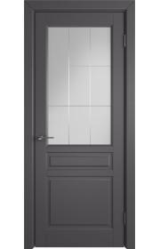 Дверь ВФД Стокгольм 56ДО06 Эмаль графит