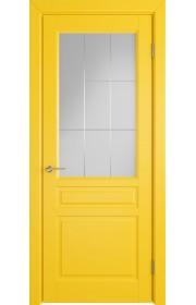 Дверь ВФД Стокгольм 56ДО08 Эмаль желтая