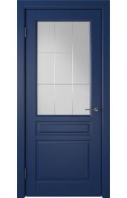 Дверь ВФД Стокгольм 56ДО09 Эмаль синяя