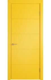 Дверь ВФД Тривиа 50ДГ08 Эмаль Желтая