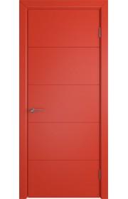 Дверь ВФД Тривиа 50ДГ07 Эмаль Красная