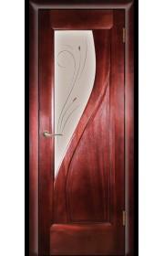 Дверь Покрова Даяна Сапель стекло бронза с гравировкой