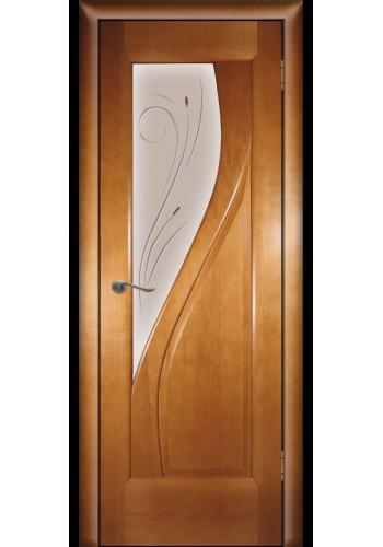 Дверь Покрова Даяна Светлый анегре стекло бронза с гравировкой