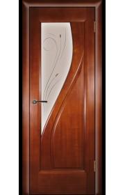 Дверь Покрова Даяна Темный анегри стекло бронза с гравировкой