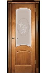 Дверь Покрова Леон М Светлый орех стекло матовое вьюнок