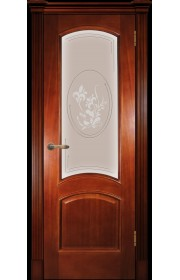 Дверь Покрова Леон М Темный анегри стекло бронза с гравировкой