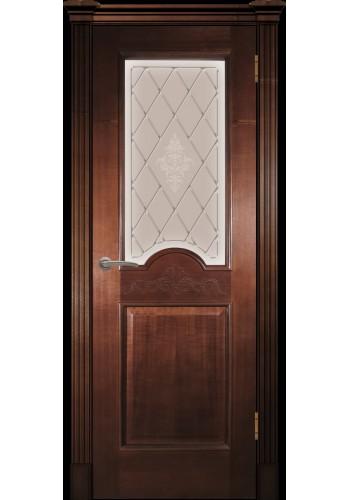 Дверь Покрова Париж Миланский орех стекло тонированное
