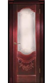 Дверь Покрова Прованс 2 сапель (красное дерево) стекло матовое АП-70