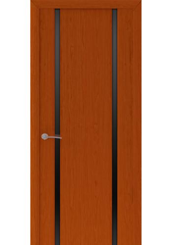 Двери Океан Шторм 2 Красное дерево Стекло черное
