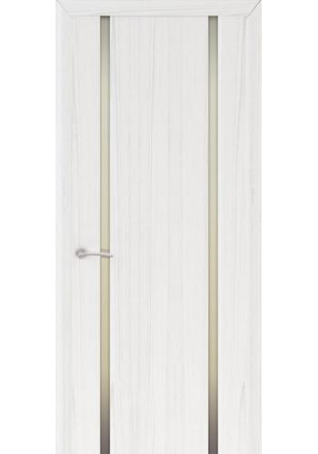 Двери Океан Шторм 2 Ясень белый жемчуг Стекло белое