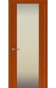 Двери Океан Шторм 3 Красное дерево Стекло белое