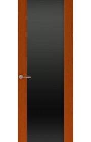 Двери Океан Шторм 3 Красное дерево Стекло черное