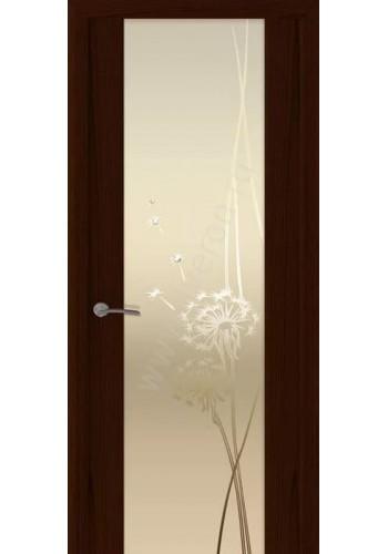 Двери Океан Шторм 3 Ясень винтаж Стекло белое Одуванчик