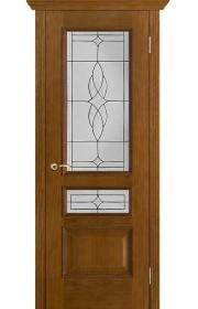Двери Вист Вена Античный дуб Витраж