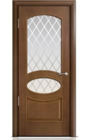 Двери Мильяна Рим Палисандр со стеклом Готика