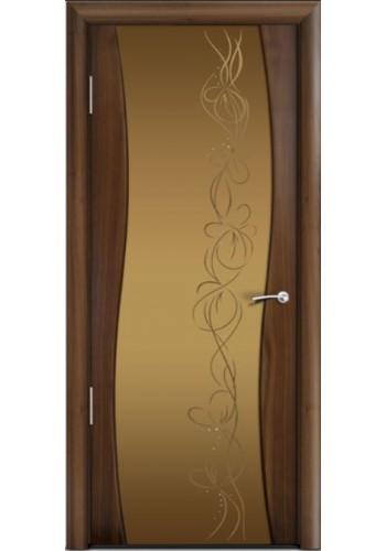 Двери Мильяна Омега Американский орех Стекло бронза Фантазия
