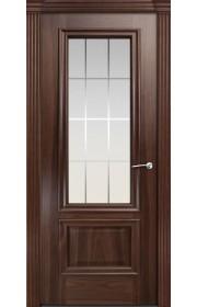 Двери Мильяна Бристоль Премиум Красное дерево стекло Премиум