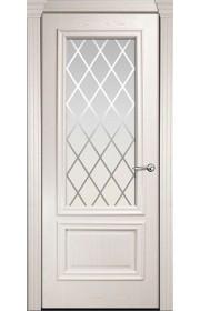 Двери Мильяна Бристоль Премиум Ясень жемчуг стекло Готика