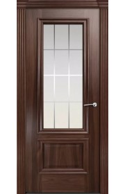 Двери Мильяна Бристоль Премиум Красное дерево стекло Готика