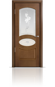 Двери Мильяна Рим Палисандр со стеклом Рим