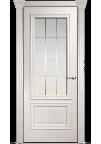 Двери Мильяна Бристоль Премиум Ясень жемчуг стекло Премиум