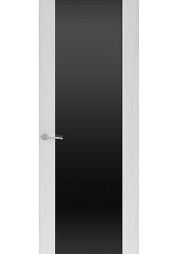 Двери Океан Шторм 3 Ясень серый Стекло черное
