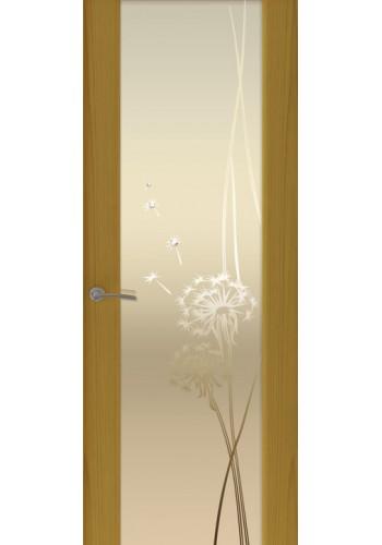 Двери Океан Шторм 3 Ясень шервуд Стекло белое Одуванчик