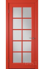 Дверь ВФД Гланта 57ДО0 Эмаль красная