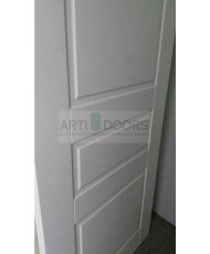 Фото установленной Двери ВФД Атум С1 Беленый дуб ДГ