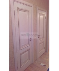 Фото установленной Дверь Арт Деко Ченере 3 Терра стекло Лаго