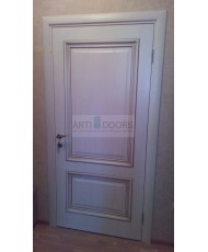 Фото установленной Двери Арт Деко Аттика-1 Фисташка ДГ