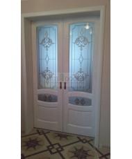 Фото установленной Дверь Арт Деко Спациа 3 Венге ДГ
