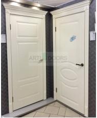 Фото установленной Дверь Дэмфа Багет 3 Белый ДГ