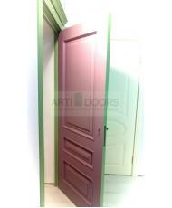 Фото установленной Дверь Дэмфа Багет 3М Белый ДО