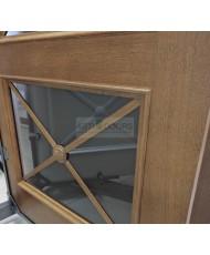 Фото установленной Двери Белоруссии Престиж каштан с решеткой ДО