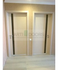 Фото установленной Дверь Лига Модерн 1 Венге ДО