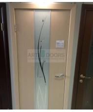 Фото установленной Дверь Матадор Руно венге ДО(1 стекло)