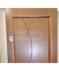 Фото установленной Двери Мильяна Омега Американский орех Стекло бронза Фантазия