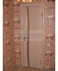 Фото установленной Дверь Океан Шарм Красное дерево ДГ