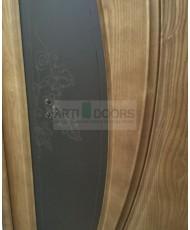 Фото установленной Дверь Океан Лувр Красное дерево стекло Элегия