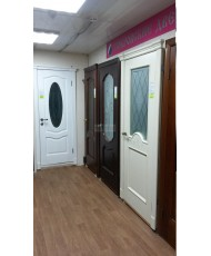 Фото установленной Дверь Покрова Карамель Тон №4 стекло бронза пескоструй