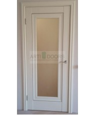 Фото установленной Дверь Профиль Дорс 20Z Малага Черри Кроскут Стекло Темно-коричневый