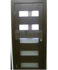 Фото установленной Двери Профиль Дорс 43U Капучино Сатинат Стекло Графит