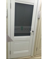 Фото установленной Двери Профиль Дорс 5U Антрацит Стекло Узор графит 2