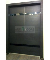 Фото установленной Двери Профиль Дорс 7U Черный матовый Стекло Мателюкс