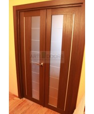 Фото установленной Двери Профиль Дорс 16U Антрацит Стекло Мателюкс
