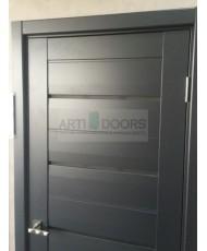 Фото установленной Дверь Профиль Дорс 62X Эш Вайт Мелинга Стекло Перламутровый Лак