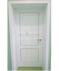Фото установленной Дверь Профиль Дорс 43X Грей Мелинга Стекло Мателюкс