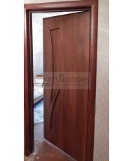Фото установленной Двери Верда Милан 07 Венге Мелинга Стекло Сатинато Люкс