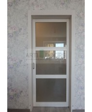 Фото установленной Двери Верда Верона 05 Венге Стекло Черный Триплекс